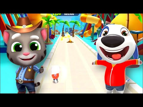 talking-tom-gold-run----talking-hank-vs-cowboy-tom---waterpark-bossfight--androidios-gameplay