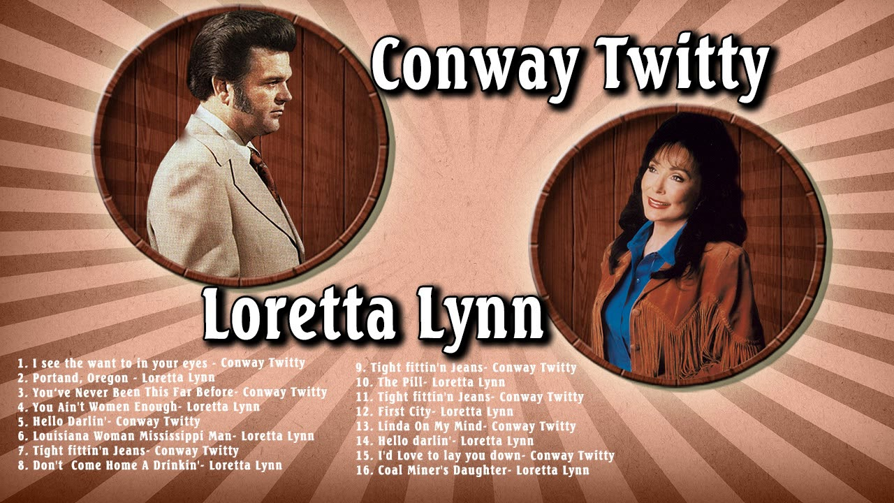 Conway Twitty and Loretta Lynn Greatest Hits - Old Country Music Greatest  Country Duets
