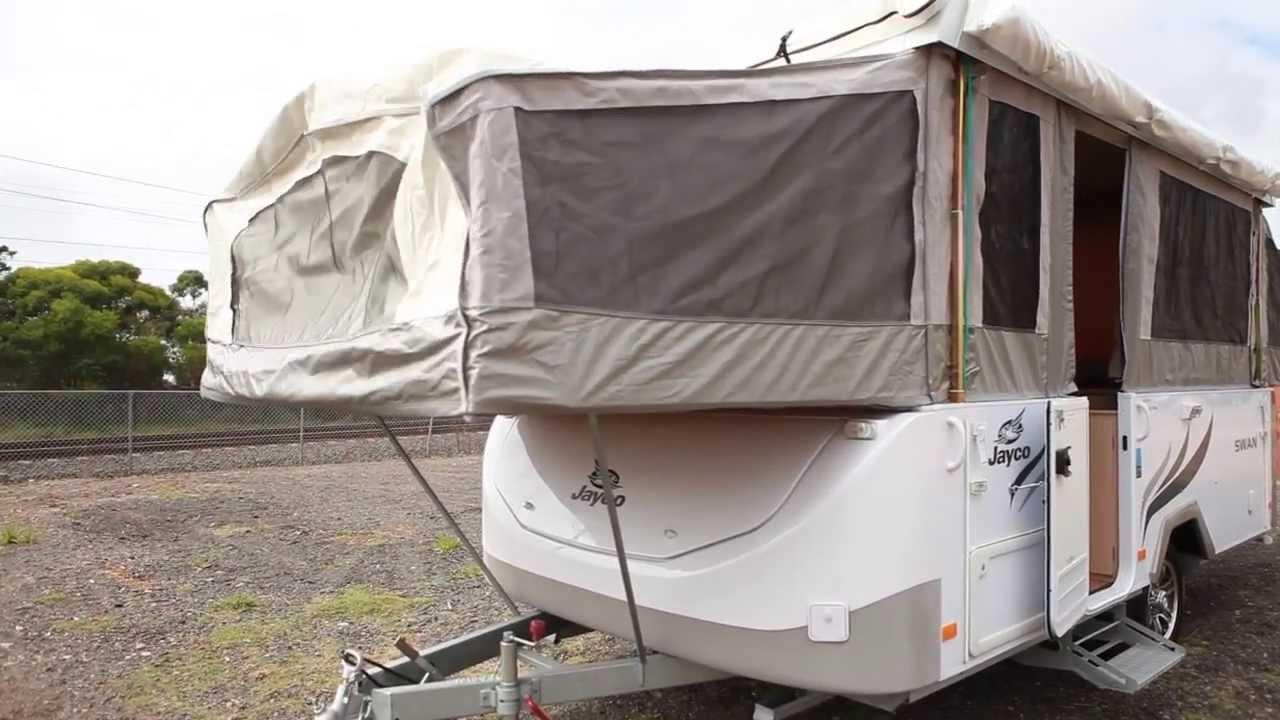 2011 jayco swan camper trailer for sale at used trailer world youtube. Black Bedroom Furniture Sets. Home Design Ideas