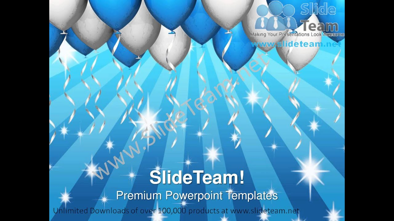 party balloons celebration festival powerpoint templates ppt, Modern powerpoint