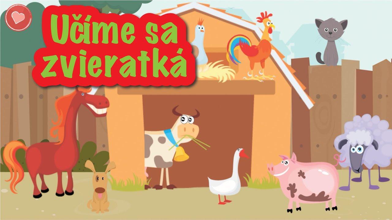 Ucime Sa Zvieratka Zvieratka Z Farmy Youtube