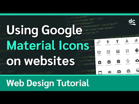 How To Use Google's Material Icons On Your Websites