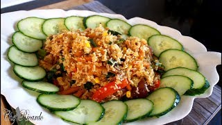 Part Of My Sunday Dinner Fry up Rice And Vegetable  | Chef Ricardo Cooking