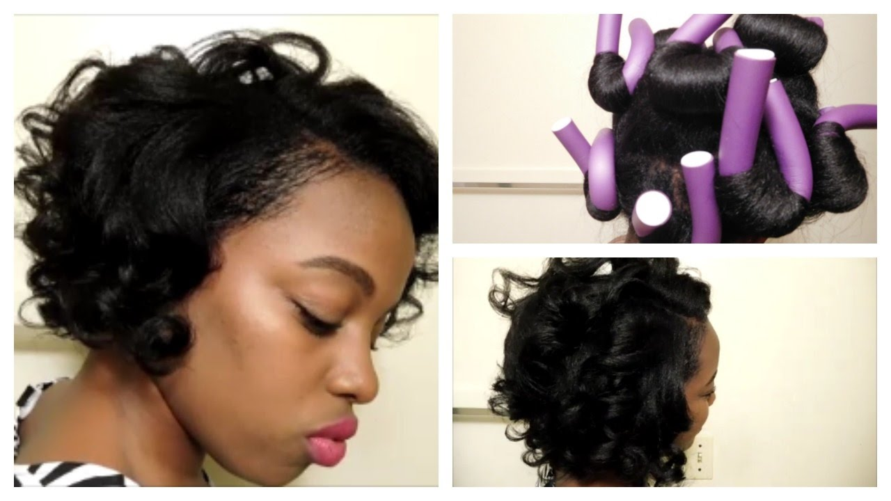 flexi rod styles on relaxed hair overnight heatless curls flexi rod takedown on relaxed 3024