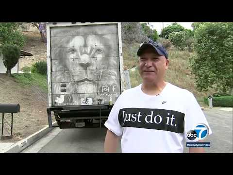 Truck driver creates amazing art using dirt and grime I ABC