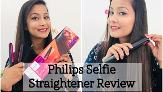 PHILIPS SELFIE STRAIGHTENER Full Review | ₹950 Only | Silky, Shiny, Smooth Hair | Cherry's World