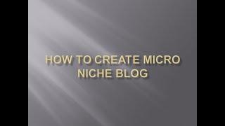 شرح micro niche blog