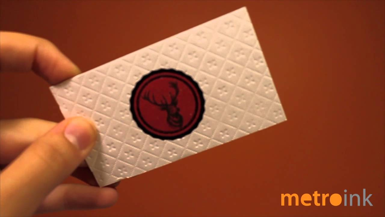 Metroink 45pt Debossed Cotton Business Card - YouTube