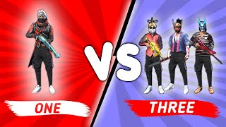 1 VS 3 Best Clash Squad Custom 21 Kills Epic Match - Garena Free Fire