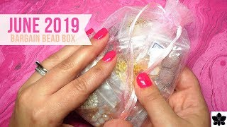 JUNE 2019 Bargain Bead Box | Monthly Subscription Unboxing | Beaded Jewelry Making