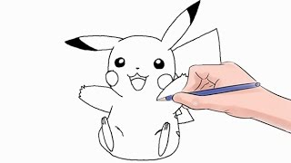 How to Draw The Pokemon Pikachu Easy Step by Step