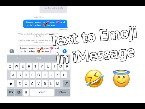 Convert Text to Emoji in Messages in iOS 10 on iPhone and iPad