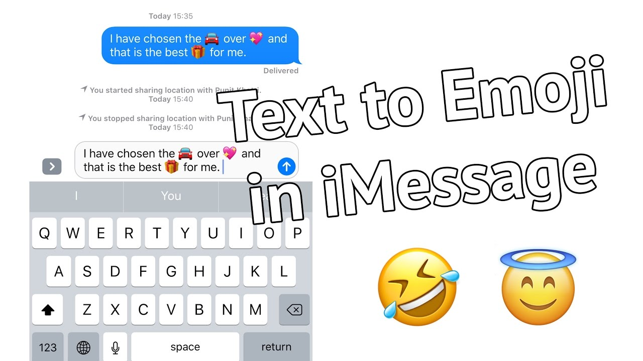 Convert Text To Emoji In Messages In Ios 10 On Iphone And Ipad Youtube