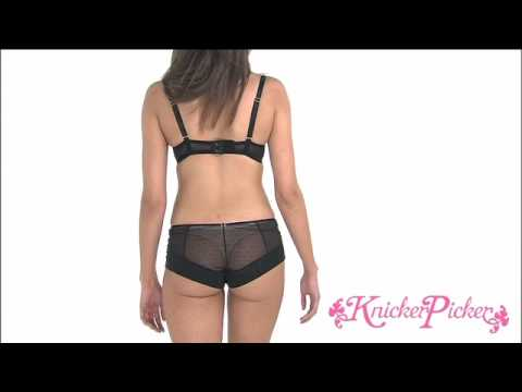 KnickerPicker.com - Gossard Superboost Lace Plunge Bra and Lace Shorts