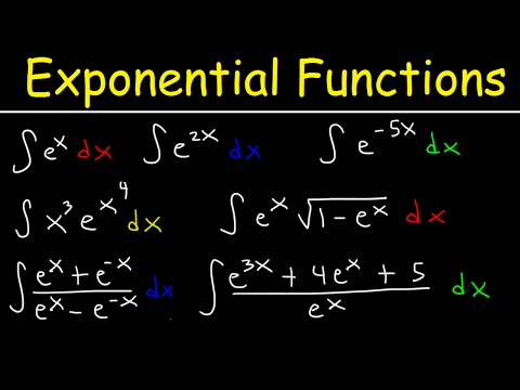 Integrating Exponential Functions, Antiderivatives, Integration By Substitution, Calculus