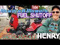 HOW TO ADD A FUEL SHUTOFF VALVE CHEAP EASY FIX PREVENT CARBURETOR FLOODING OF GAS IN THE CRANKCASE