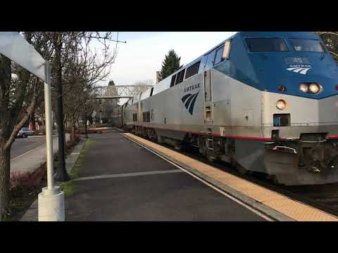 Amtrak Coast Starlight #11 Arrival - Salem Station