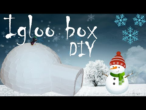How to make A Cardboard Box Like Igloo - DIY
