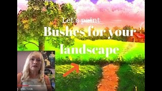 Beginners painting lessons, highlights, trees and shrubs,  Acrylic Painting.Lesson 5