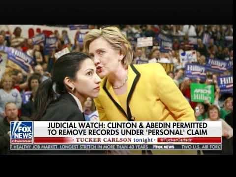 "State Dept. Allowed Huma Abedin to Remove Boxes on ""Muslim Engagement Documents"" During Probe"