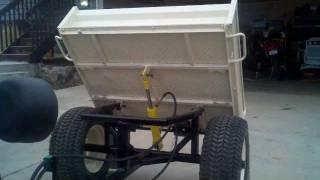 Hydraulic Garden Tractor Dump Trailer
