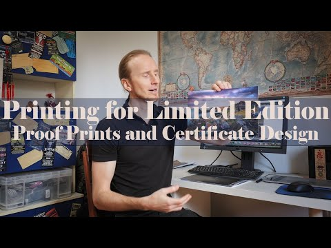 Proof Prints And Certificate Design For Limited Edition