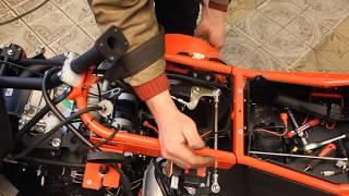 Настройка реверс редуктора на снегоходе  rbis Tungus