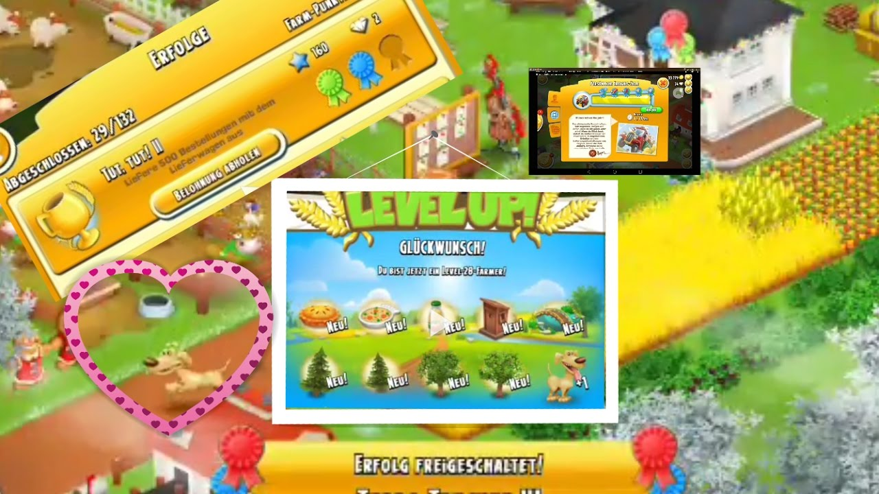 Hay Deutsch Let's Play Hay Day Deutsch Level Up 28 Erfolge