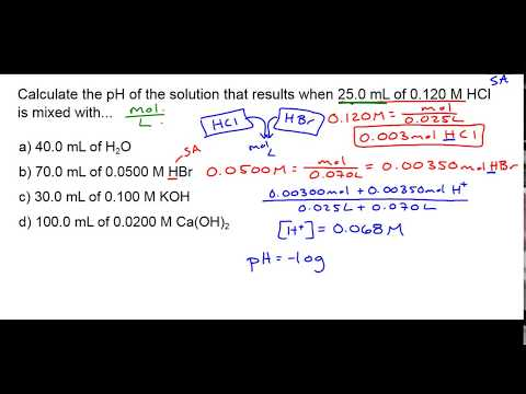 How To Do PH Problems (dilution, Neutralization, Etc)