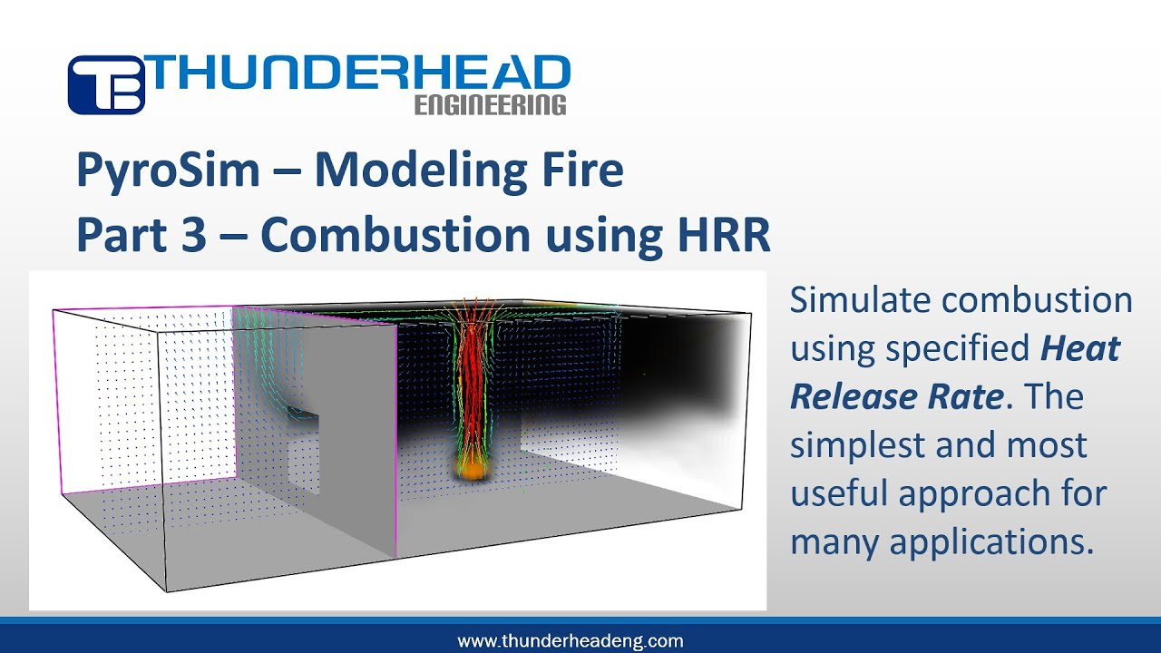Modeling Fire, Part 3 – Combustion using HRR | Thunderhead