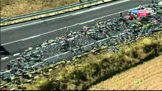 CRASH VALVERDE Vuelta a España - #4 (Barakaldo - Estación de Valdezcaray)