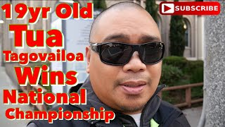 Eric B's Daily Vlogs #326 - 19ry old Tua Tagovailoa wins National Championship
