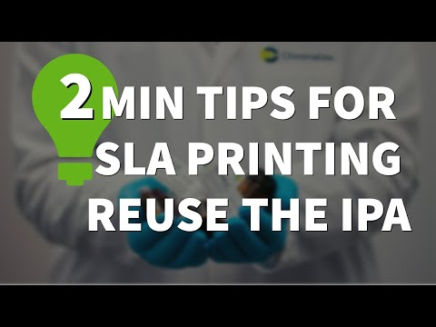 Reuse your Isopropyl Alcohol (IPA) after cleaning your SLA Resin prints