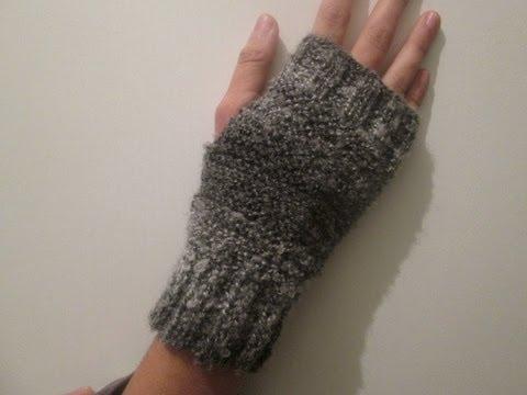 tuto tricot apprendre a tricoter des mitaines gants super facile point mousse et cotes. Black Bedroom Furniture Sets. Home Design Ideas