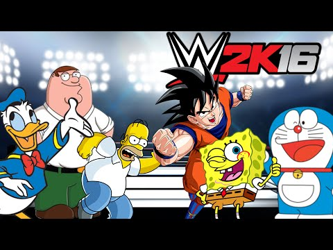 DIBUJOS ANIMADOS En la WWE ! ROYAL RUMBLE ! - WWE2K16 - ElChurches