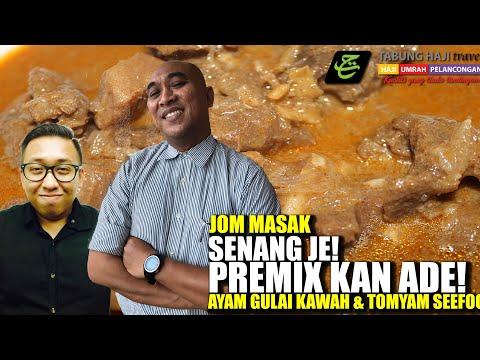 JOM MASAK AYAM GULAI KAWAH & TOMYAM SEAFOOD   SENANG JE! PREMIXKAN ADA!