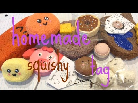Homemade Squishy Tags : Homemade Squishy TAG;D (HIGHLY REQUESTED) - YouTube