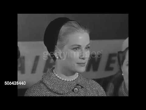 Grace Kelly - interview about wedding plans in 1956
