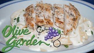 Fetuccine Alfredo con Pollo Estilo Olive Garden