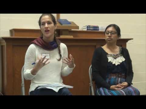 Healing toward justice of Mayan women sex slaves by Guatemalan military 10 17 16