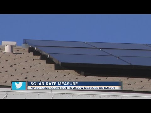 Nevada court rejects rooftop solar rates ballot measure Eds