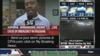 TORNADO IN TORONTO! Coverage by CP24 (CTV NEWS)