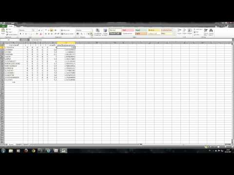 Excel 2010 วิธีหาค่าเฉลี่ย ส่วนเบี่ยงเบนมาตรฐาน
