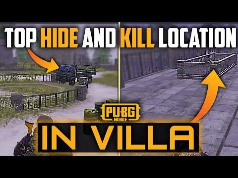 Top Hide And Kill Locations In Villa Vikendi Pubg Mobile Youtube