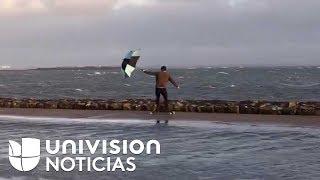 El Videíto: Estos skaters se las ingeniaron para utilizar los vientos del huracán Ophelia