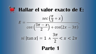 Calculate the exact value of E - Part 1