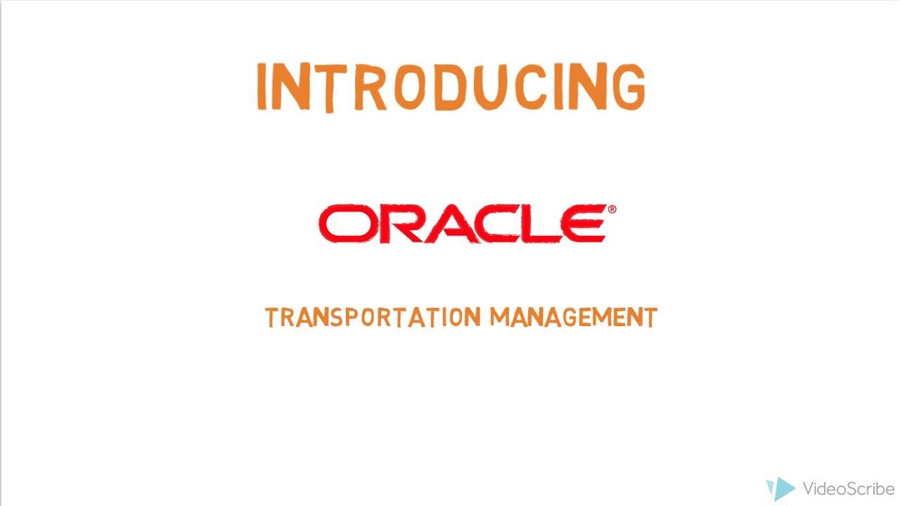 Introducing Oracle Transportation Management Cloud