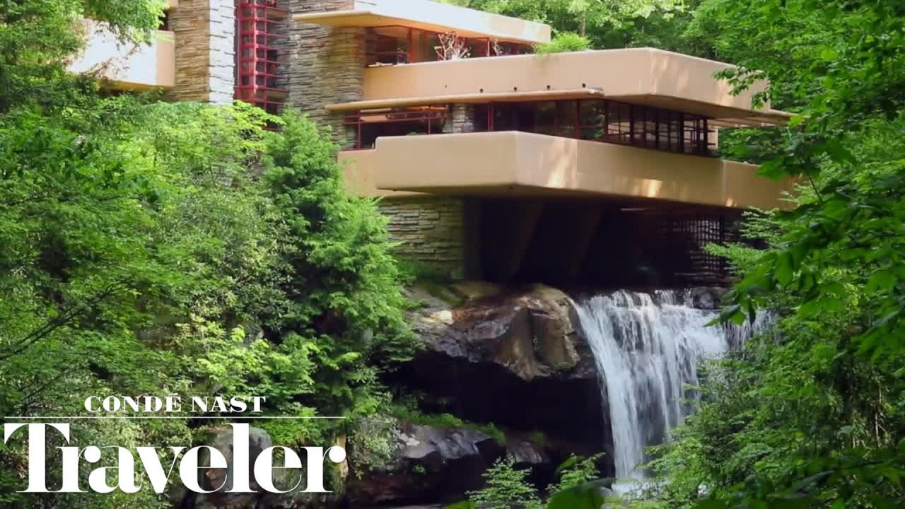 Falling Water House Usa Inside Frank Lloyd Wright S Iconic Fallingwater House Condé Nast Traveler