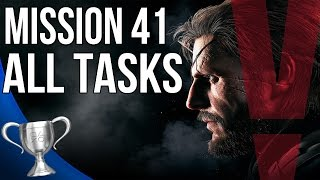 Metal Gear Solid 5 Phantom Pain - Proxy War Without End All Tasks (Mission 41)