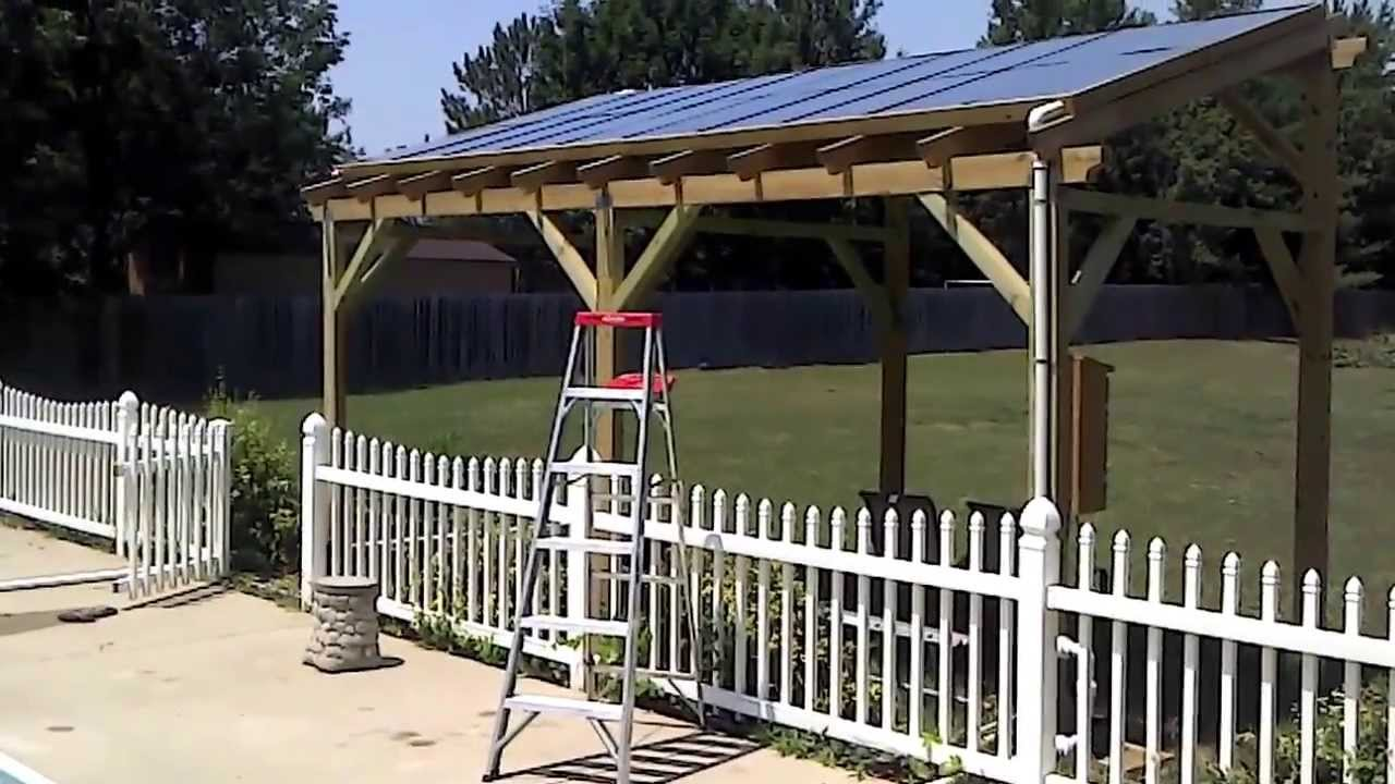 Solar Pool Heater Pergola Youtube